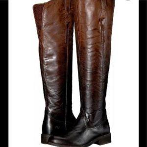 Ariat Farrah Sassy Chocolate Ombre OTK Boots US9